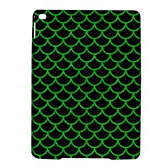 Scales1 Black Marble & Green Colored Pencil Ipad Air 2 Hardshell Cases by trendistuff