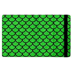 Scales1 Black Marble & Green Colored Pencil (r) Apple Ipad 2 Flip Case by trendistuff