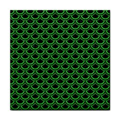 Scales2 Black Marble & Green Colored Pencil Face Towel by trendistuff