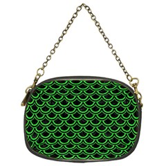 Scales2 Black Marble & Green Colored Pencil Chain Purses (one Side)  by trendistuff