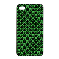 Scales2 Black Marble & Green Colored Pencil Apple Iphone 4/4s Seamless Case (black) by trendistuff