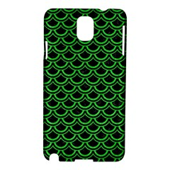 Scales2 Black Marble & Green Colored Pencil Samsung Galaxy Note 3 N9005 Hardshell Case by trendistuff