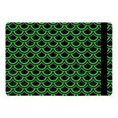 Scales2 Black Marble & Green Colored Pencil Apple Ipad Pro 10 5   Flip Case