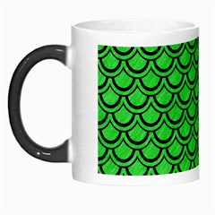 Scales2 Black Marble & Green Colored Pencil (r) Morph Mugs by trendistuff