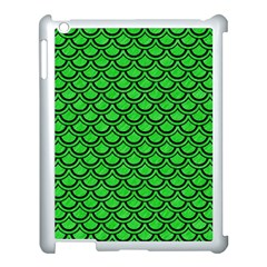 Scales2 Black Marble & Green Colored Pencil (r) Apple Ipad 3/4 Case (white) by trendistuff