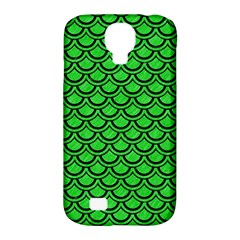 Scales2 Black Marble & Green Colored Pencil (r) Samsung Galaxy S4 Classic Hardshell Case (pc+silicone)