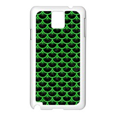 Scales3 Black Marble & Green Colored Pencil Samsung Galaxy Note 3 N9005 Case (white) by trendistuff