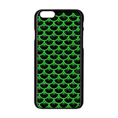 Scales3 Black Marble & Green Colored Pencil Apple Iphone 6/6s Black Enamel Case by trendistuff
