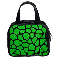 Skin1 Black Marble & Green Colored Pencil Classic Handbags (2 Sides) by trendistuff