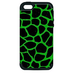 Skin1 Black Marble & Green Colored Pencil (r) Apple Iphone 5 Hardshell Case (pc+silicone) by trendistuff