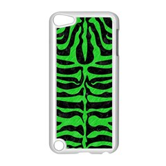 Skin2 Black Marble & Green Colored Pencil Apple Ipod Touch 5 Case (white) by trendistuff