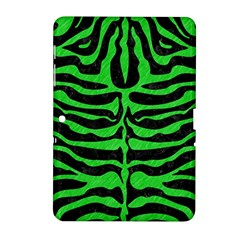 Skin2 Black Marble & Green Colored Pencil Samsung Galaxy Tab 2 (10 1 ) P5100 Hardshell Case  by trendistuff