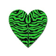 Skin2 Black Marble & Green Colored Pencil (r) Heart Magnet by trendistuff