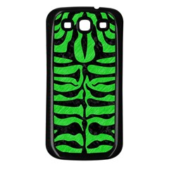 Skin2 Black Marble & Green Colored Pencil (r) Samsung Galaxy S3 Back Case (black) by trendistuff