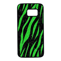 Skin3 Black Marble & Green Colored Pencil Samsung Galaxy S7 Black Seamless Case by trendistuff