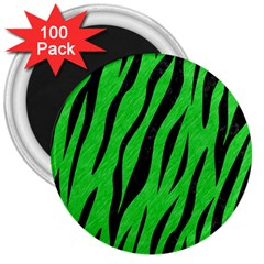 Skin3 Black Marble & Green Colored Pencil (r) 3  Magnets (100 Pack) by trendistuff