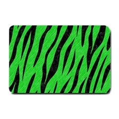 Skin3 Black Marble & Green Colored Pencil (r) Small Doormat  by trendistuff