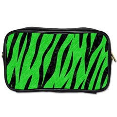 Skin3 Black Marble & Green Colored Pencil (r) Toiletries Bags 2 Side by trendistuff
