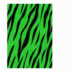 Skin3 Black Marble & Green Colored Pencil (r) Large Garden Flag (two Sides) by trendistuff