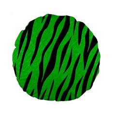 Skin3 Black Marble & Green Colored Pencil (r) Standard 15  Premium Round Cushions by trendistuff