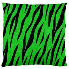 Skin3 Black Marble & Green Colored Pencil (r) Large Flano Cushion Case (two Sides) by trendistuff