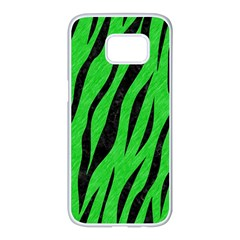 Skin3 Black Marble & Green Colored Pencil (r) Samsung Galaxy S7 Edge White Seamless Case by trendistuff