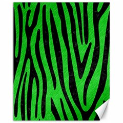 Skin4 Black Marble & Green Colored Pencil Canvas 11  X 14   by trendistuff