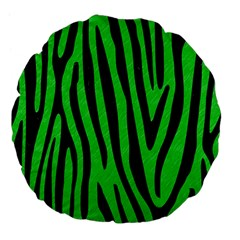 Skin4 Black Marble & Green Colored Pencil Large 18  Premium Flano Round Cushions by trendistuff