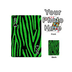 Skin4 Black Marble & Green Colored Pencil (r) Playing Cards 54 (mini)  by trendistuff