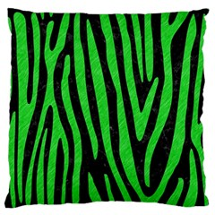 Skin4 Black Marble & Green Colored Pencil (r) Standard Flano Cushion Case (one Side) by trendistuff