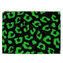 Skin5 Black Marble & Green Colored Pencil (r) Cosmetic Bag (xxl)  by trendistuff