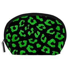 Skin5 Black Marble & Green Colored Pencil (r) Accessory Pouches (large)  by trendistuff