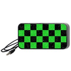 Square1 Black Marble & Green Colored Pencil Portable Speaker by trendistuff