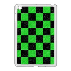 Square1 Black Marble & Green Colored Pencil Apple Ipad Mini Case (white) by trendistuff