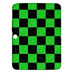 Square1 Black Marble & Green Colored Pencil Samsung Galaxy Tab 3 (10 1 ) P5200 Hardshell Case  by trendistuff