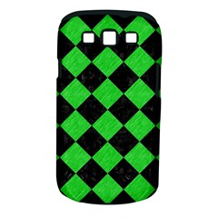 Square2 Black Marble & Green Colored Pencil Samsung Galaxy S Iii Classic Hardshell Case (pc+silicone) by trendistuff