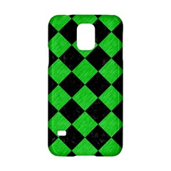 Square2 Black Marble & Green Colored Pencil Samsung Galaxy S5 Hardshell Case  by trendistuff