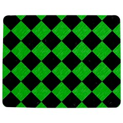 Square2 Black Marble & Green Colored Pencil Jigsaw Puzzle Photo Stand (rectangular) by trendistuff