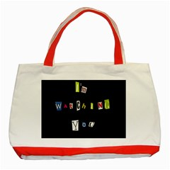 I Am Watching You Classic Tote Bag (red)