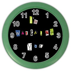 I Am Watching You Color Wall Clocks by Valentinaart