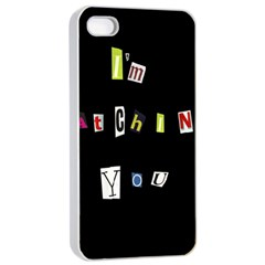 I Am Watching You Apple Iphone 4/4s Seamless Case (white) by Valentinaart