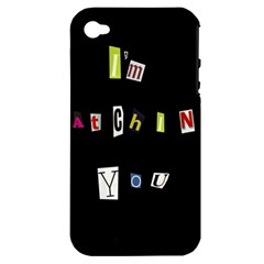 I Am Watching You Apple Iphone 4/4s Hardshell Case (pc+silicone)