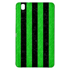 Stripes1 Black Marble & Green Colored Pencil Samsung Galaxy Tab Pro 8 4 Hardshell Case by trendistuff