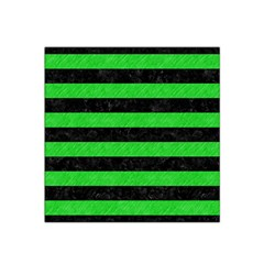 Stripes2 Black Marble & Green Colored Pencil Satin Bandana Scarf by trendistuff