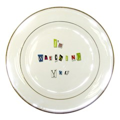 I Am Watching You Porcelain Plates by Valentinaart