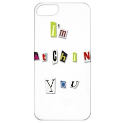 I Am Watching You Apple Iphone 5 Classic Hardshell Case by Valentinaart