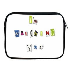 I Am Watching You Apple Ipad 2/3/4 Zipper Cases by Valentinaart