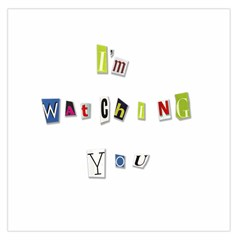 I Am Watching You Large Satin Scarf (square) by Valentinaart