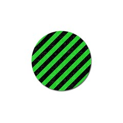 Stripes3 Black Marble & Green Colored Pencil Golf Ball Marker (10 Pack)