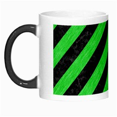 Stripes3 Black Marble & Green Colored Pencil Morph Mugs by trendistuff